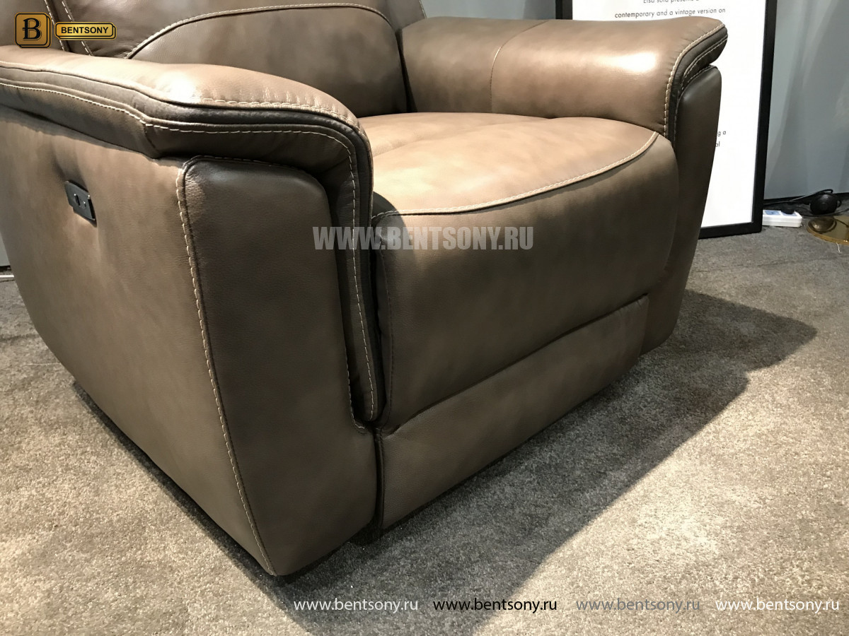 Кресло Инвитарио с реклайнером (Натуральная кожа) для дома