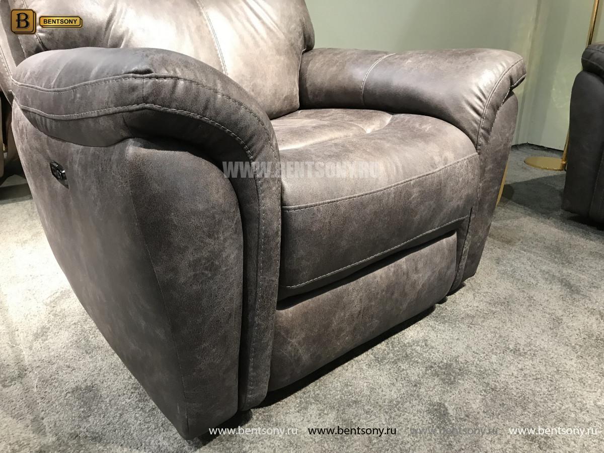 Кресло Сегретто с реклайнером (Натуральная кожа) каталог