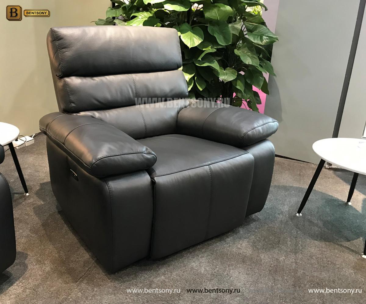 Кресло Соверето с реклайнером (Натуральная кожа) магазин
