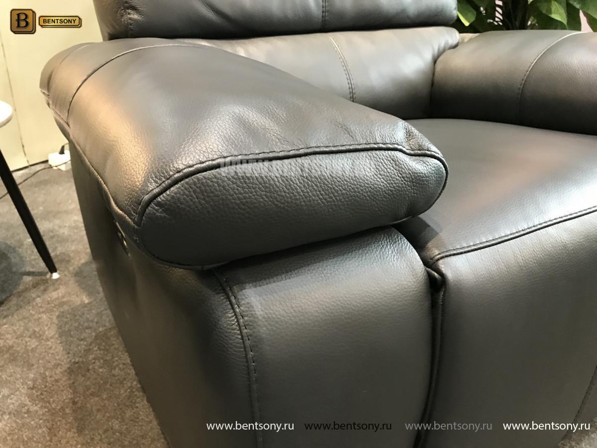 Кресло Соверето с реклайнером (Натуральная кожа) для дома