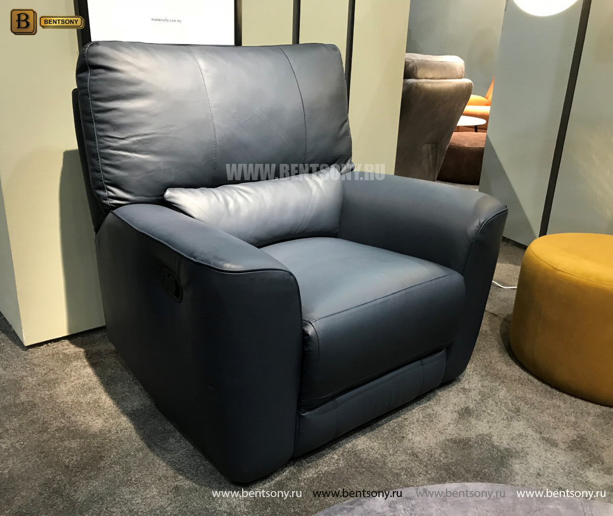 Кресло Тордино с реклайнером (Натуральная кожа) распродажа