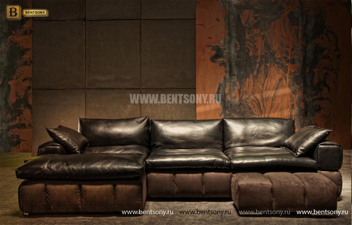Диван Марчелло с шезлонгом (VIP Кожа, Алькантара) официальный сайт цены