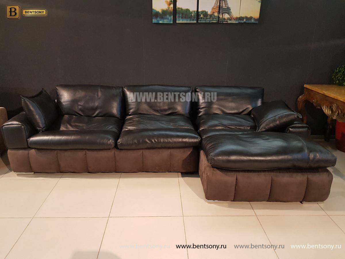 Диван Марчелло с шезлонгом (VIP Кожа, Алькантара) каталог мебели