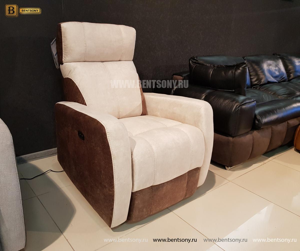 Кресло Эдвард с реклайнером (Алькантара) изображение