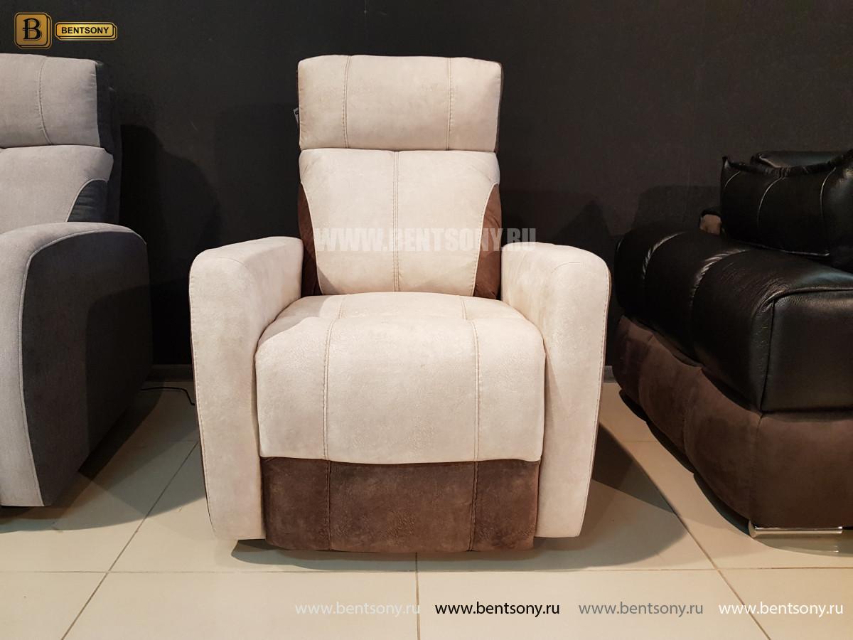 Кресло Эдвард с реклайнером (Алькантара) официальный сайт цены