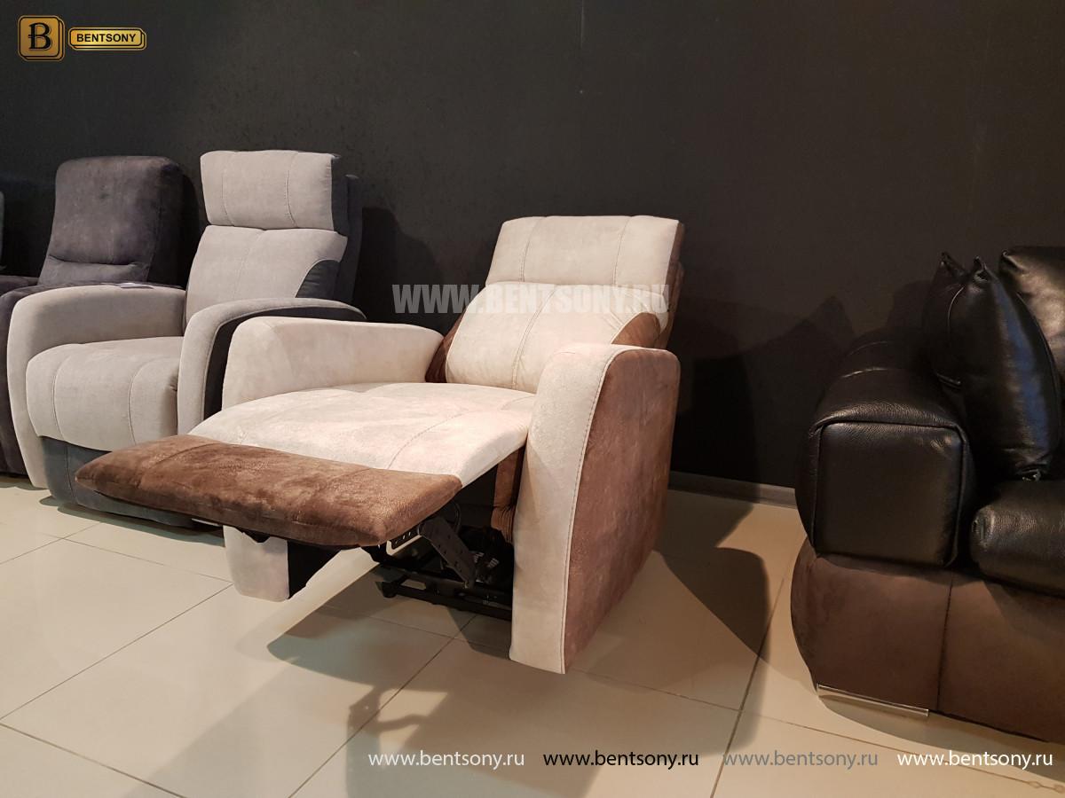 Кресло Эдвард с реклайнером (Алькантара) для квартиры