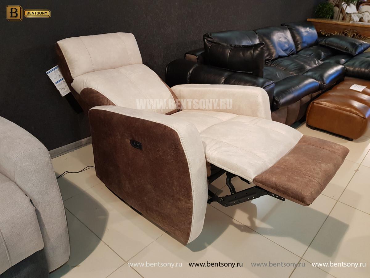 Кресло Эдвард с реклайнером (Алькантара) купить в Москве