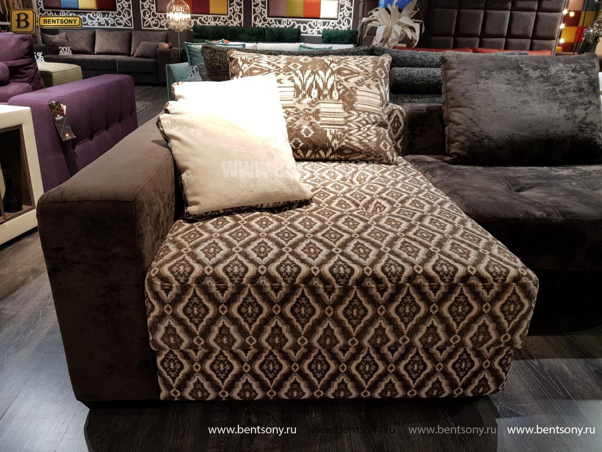 Угловой Диван Оксфорд с баром каталог мебели с ценами