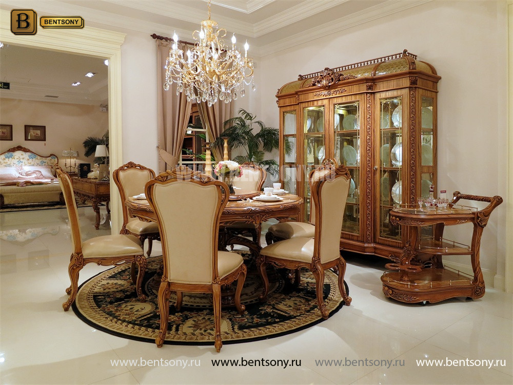 Столовая Белмонт с круглым столом (Классика, массив дерева) магазин