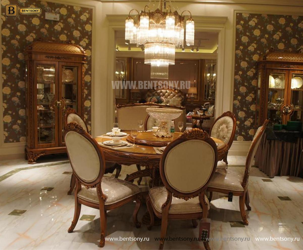 Столовая Белмонт с круглым столом (Классика, массив дерева) купить в Москве