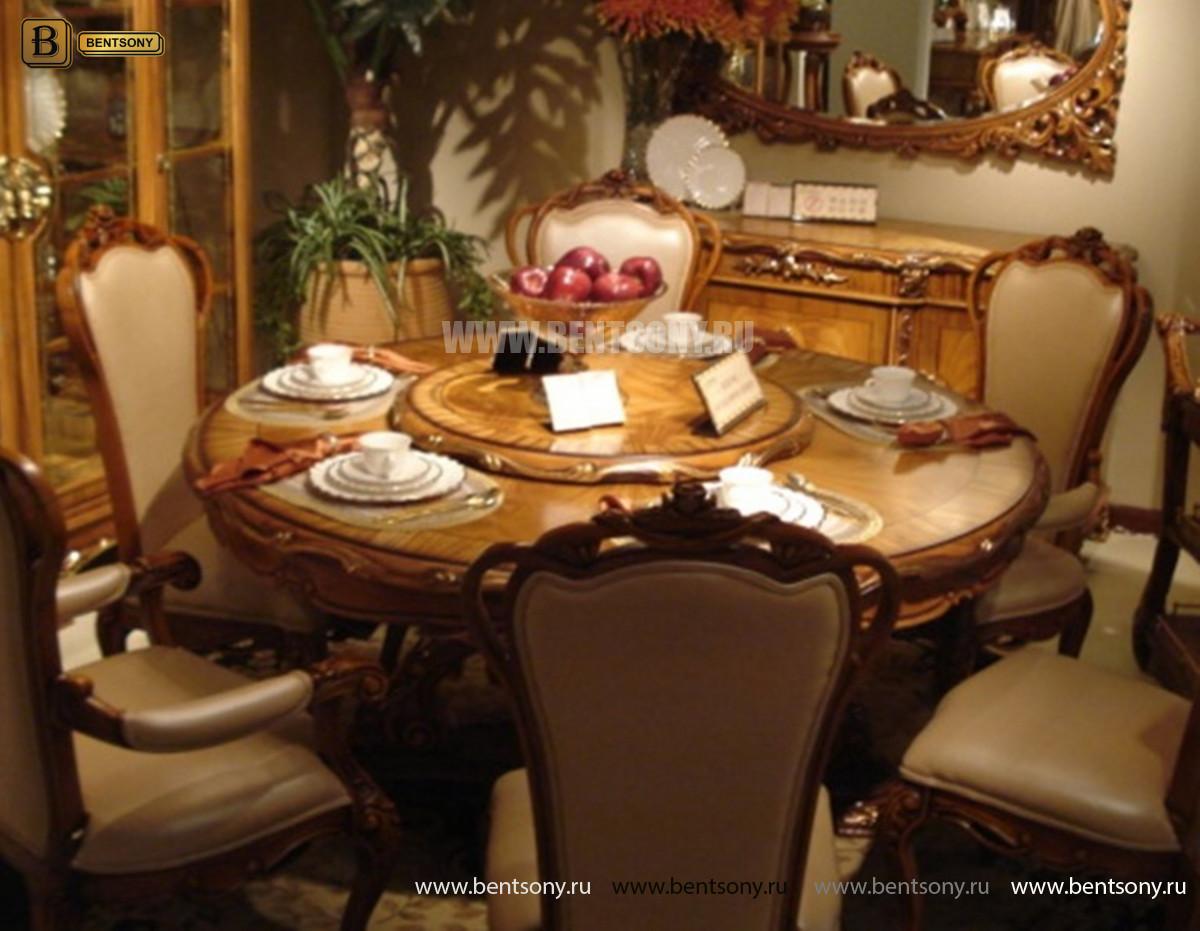 Столовая Белмонт с круглым столом (Классика, массив дерева) каталог мебели