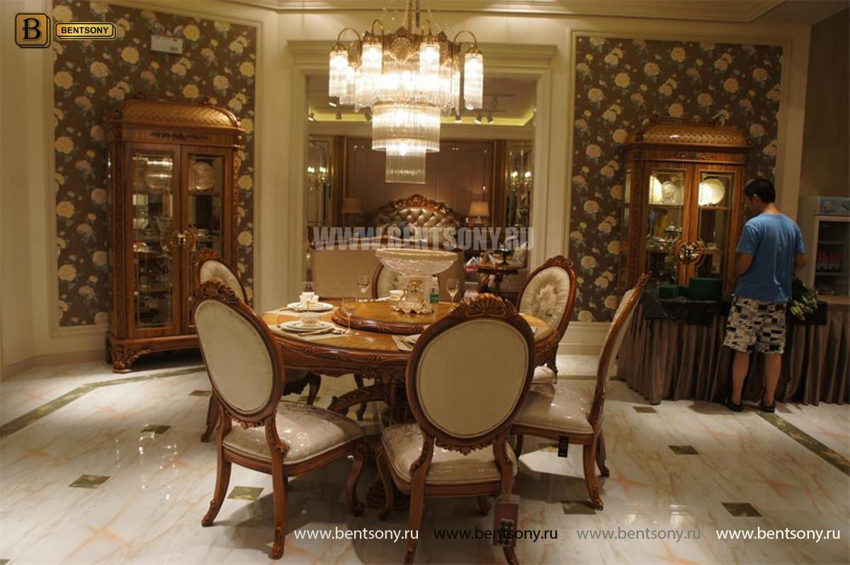 Столовая Белмонт с круглым столом (Классика, массив дерева) в СПб
