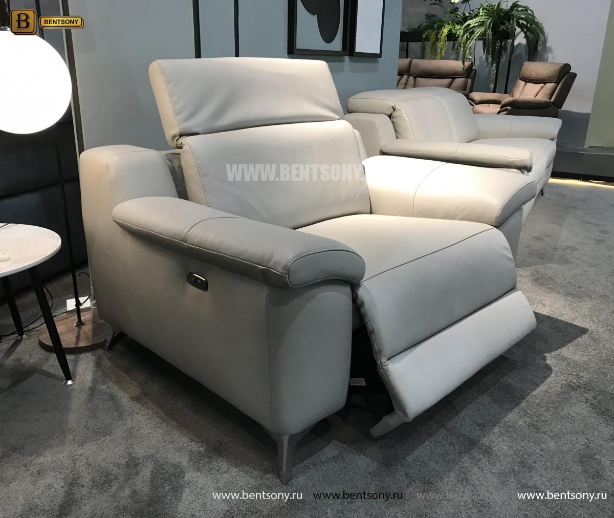 Кресло Торенеро (Реклайнер, натуральная кожа) купить в СПб