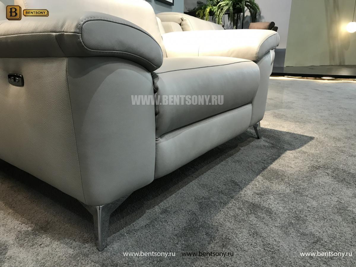 Кресло Торенеро (Реклайнер, натуральная кожа) сайт цены