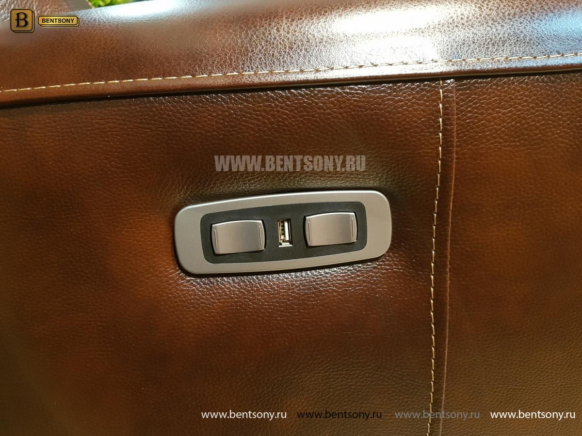 Кресло Болтон (Реклайнер, Натуральная кожа) для дома