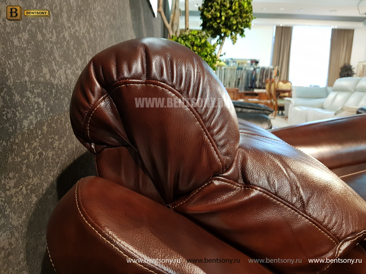 Кресло Болтон (Реклайнер, Натуральная кожа) для загородного дома
