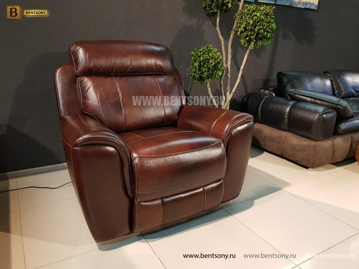 Кресло Болтон (Реклайнер, Натуральная кожа) купить в Москве