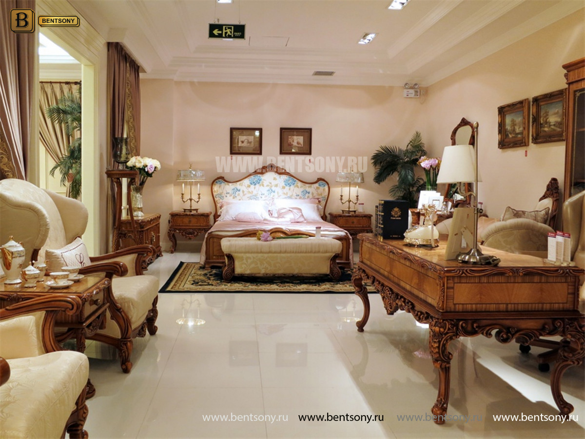 Кровать Белмонт С (Классика, Ткань) для квартиры