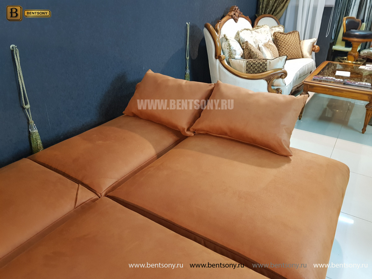Диван Беверли раскладной (эко-замша) каталог мебели с ценами