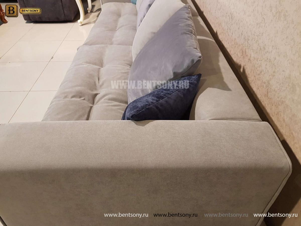 Диван Бениамино, серый (Прямой) для квартиры