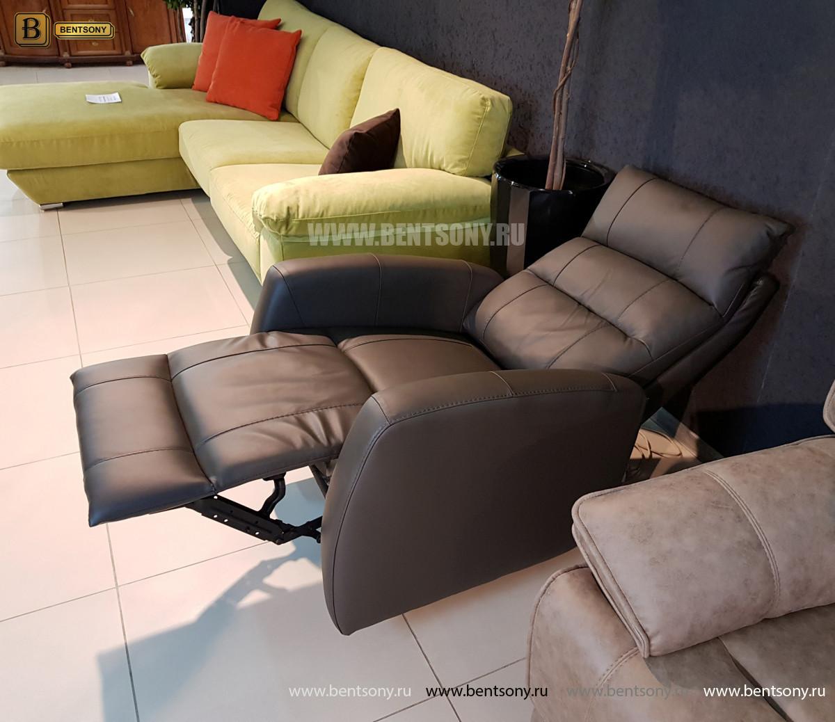 Кожаное Кресло Лаваль с электрореклайнером изображение