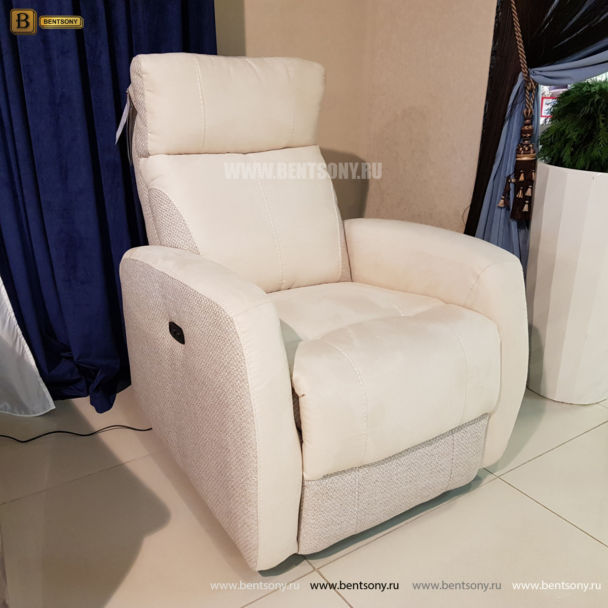 Кресло Эдвард с электрореклайнером интернет магазин