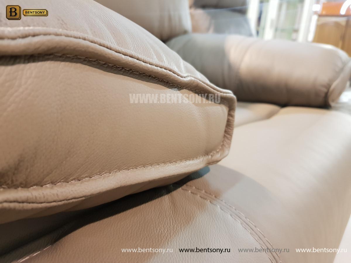 Кожаное Кресло Капонело с электрореклайнером для дома