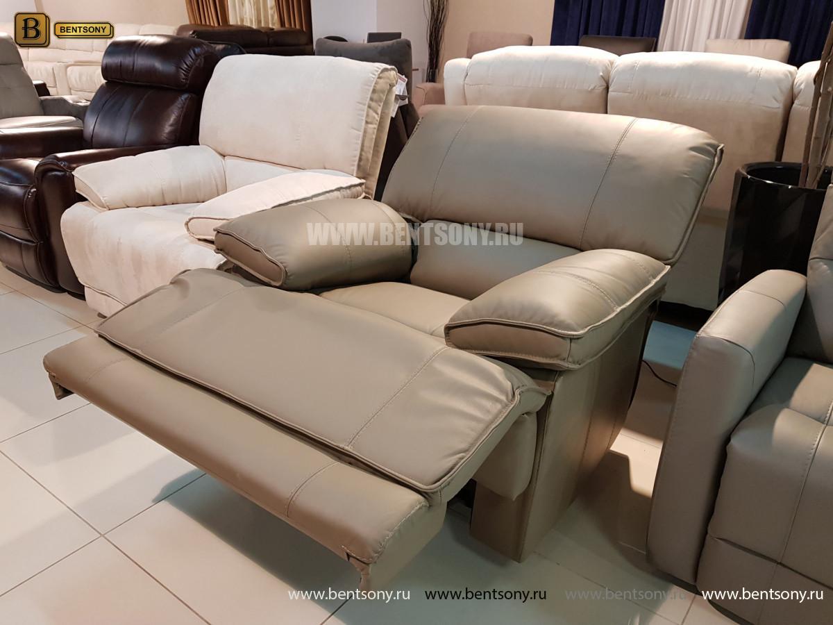 Кожаное Кресло Капонело с электрореклайнером каталог