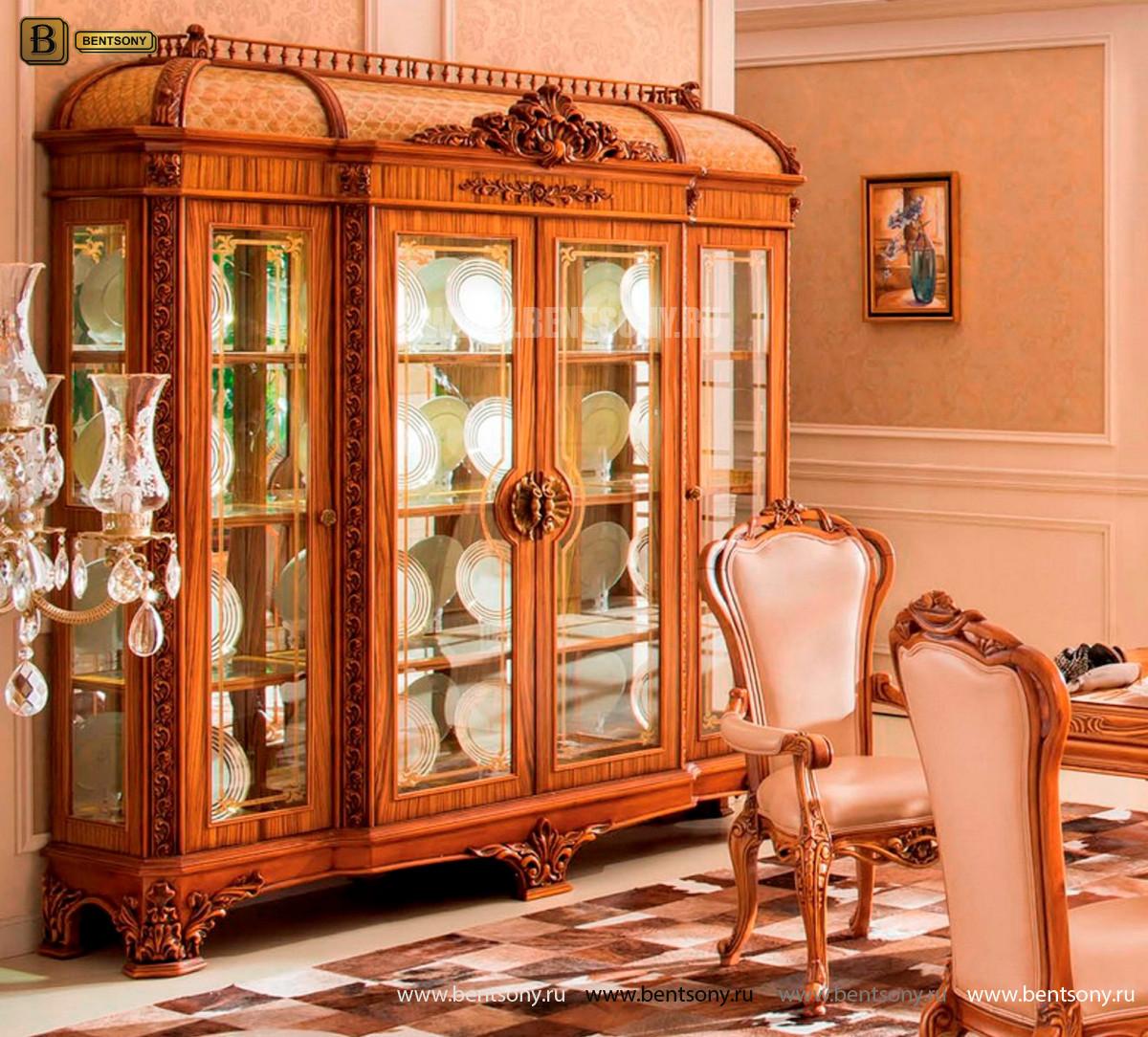 Витрина 4-х дверная Белмонт (Массив дерева, классика) официальный сайт цены