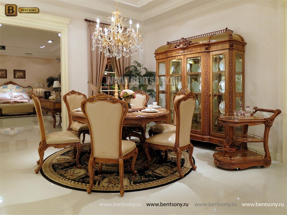 Витрина 4-х дверная Белмонт (Массив дерева, классика) каталог мебели