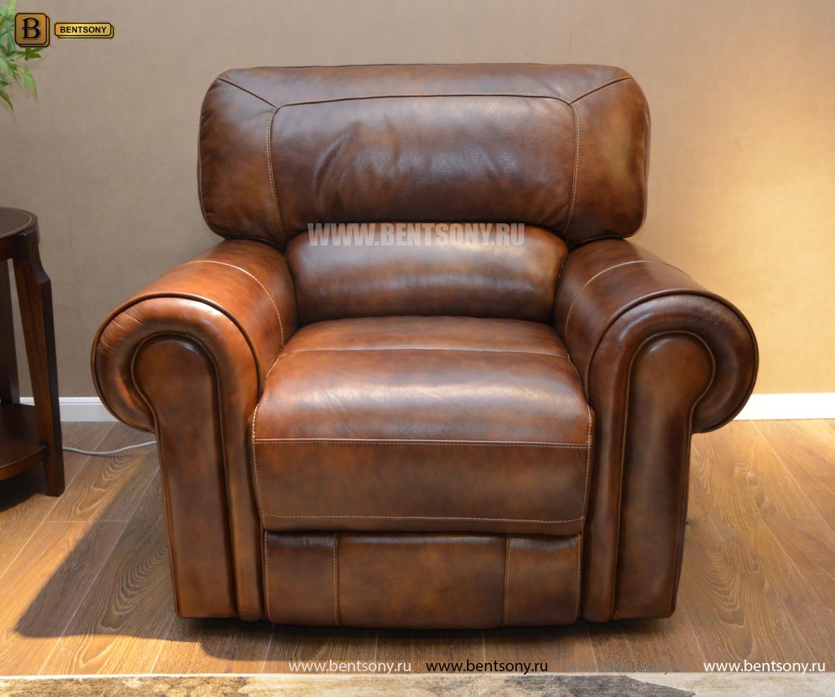 Кресло Мичиган (Реклайнер, Натуральная кожа) в интерьере