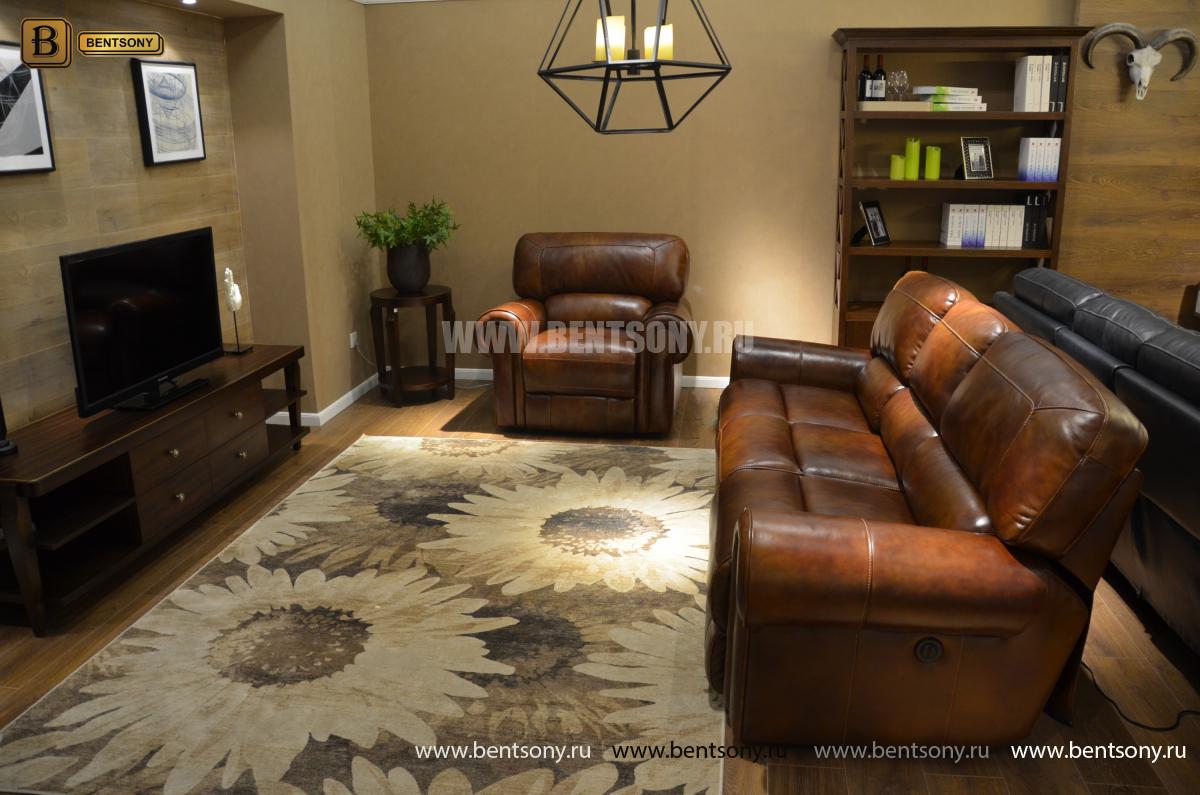 Кресло Мичиган (Реклайнер, Натуральная кожа) сайт цены