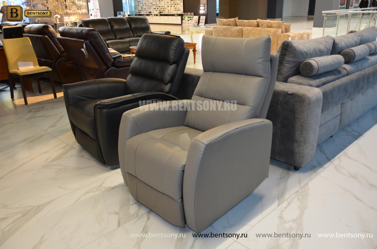 Кресло Лаваль в натуральной коже с реклайнером магазин