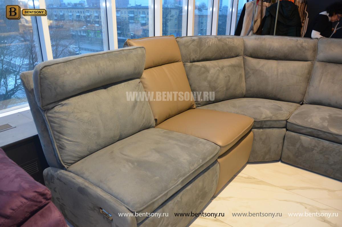 Диван Амарони угловой с реклайнерами каталог мебели