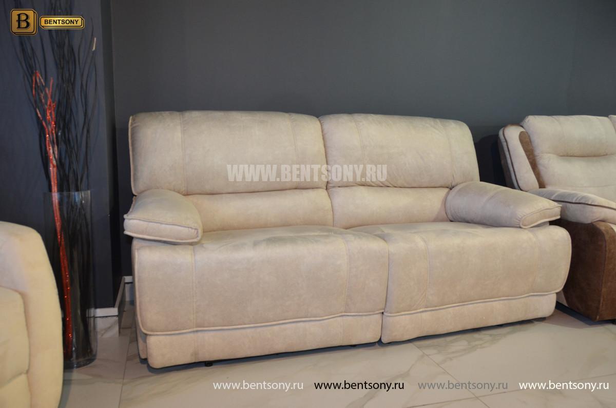 Белый Диван Капонело двойной (Алькантара, Домашний кинотеатр) каталог мебели