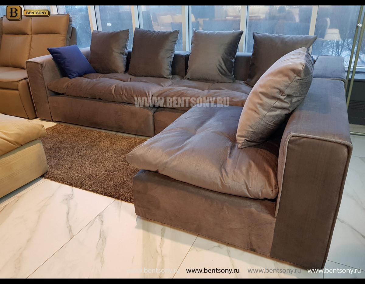 Диван Бениамино угловой (Темно-серый) каталог мебели
