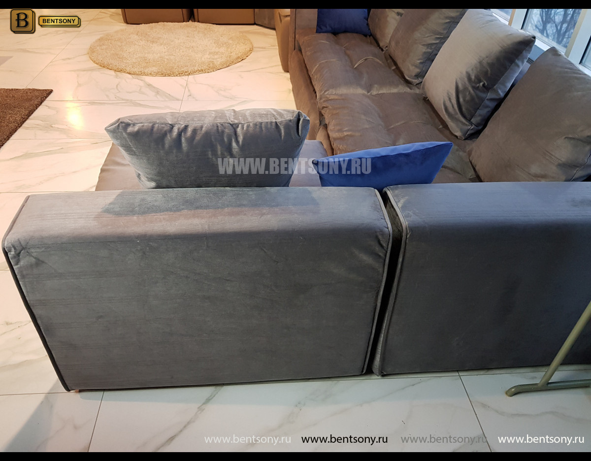 Диван Бениамино угловой (Темно-серый) цена
