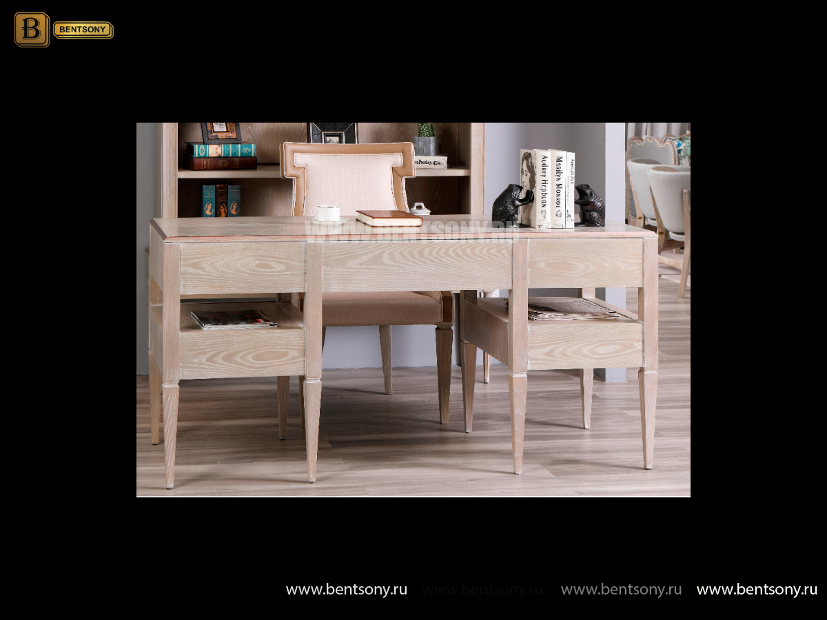 Письменный стол Невада A (Массив дерева, классика) в интерьере