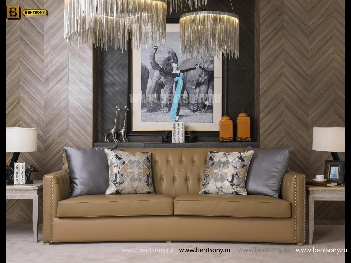 Диван Двойной Невада J (Неоклассика, Прямой, Кожа+Кожзам) каталог мебели с ценами