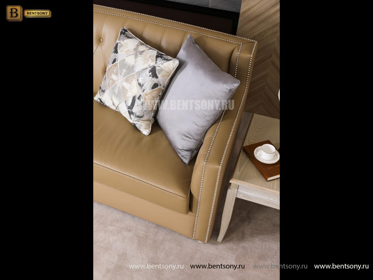 Диван Двойной Невада J (Неоклассика, Прямой, Кожа+Кожзам) каталог мебели