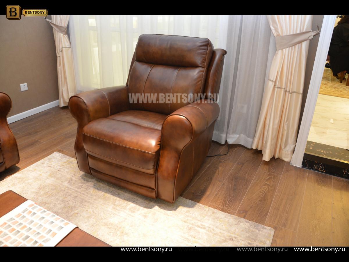 Кресло Фишер (Реклайнер, Натуральная кожа) цена