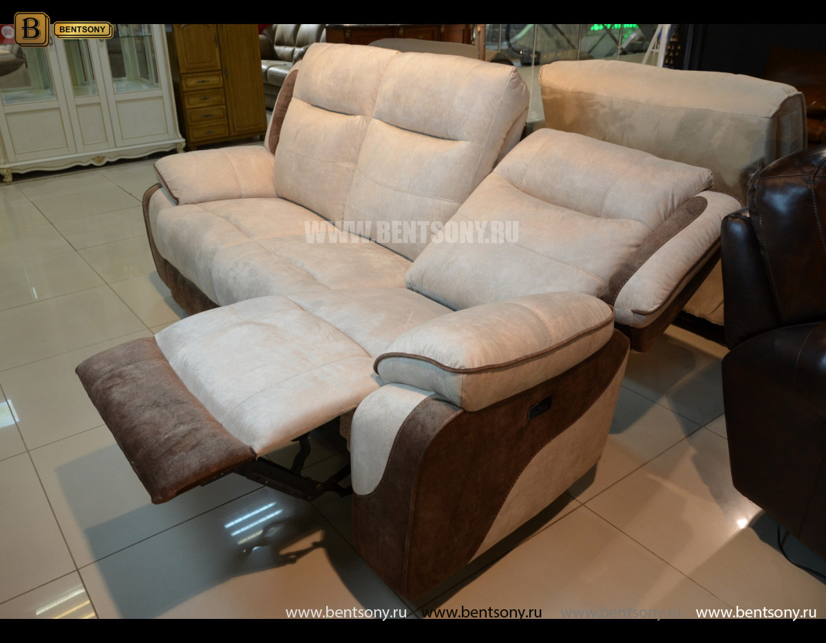 Диван Аккордо тройной с реклайнерами каталог мебели