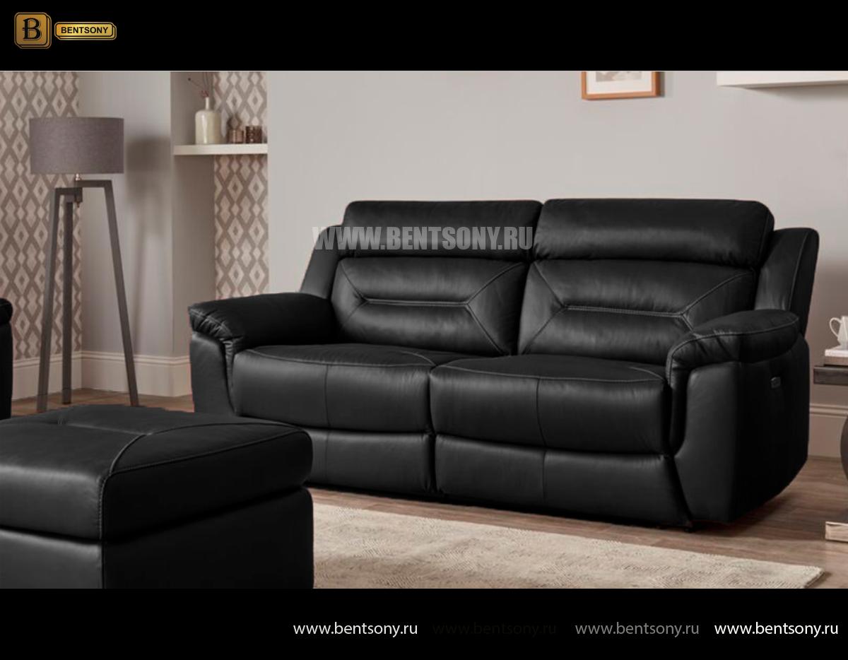 Диван Дельта (Реклайнеры, Натуральная Кожа) каталог мебели