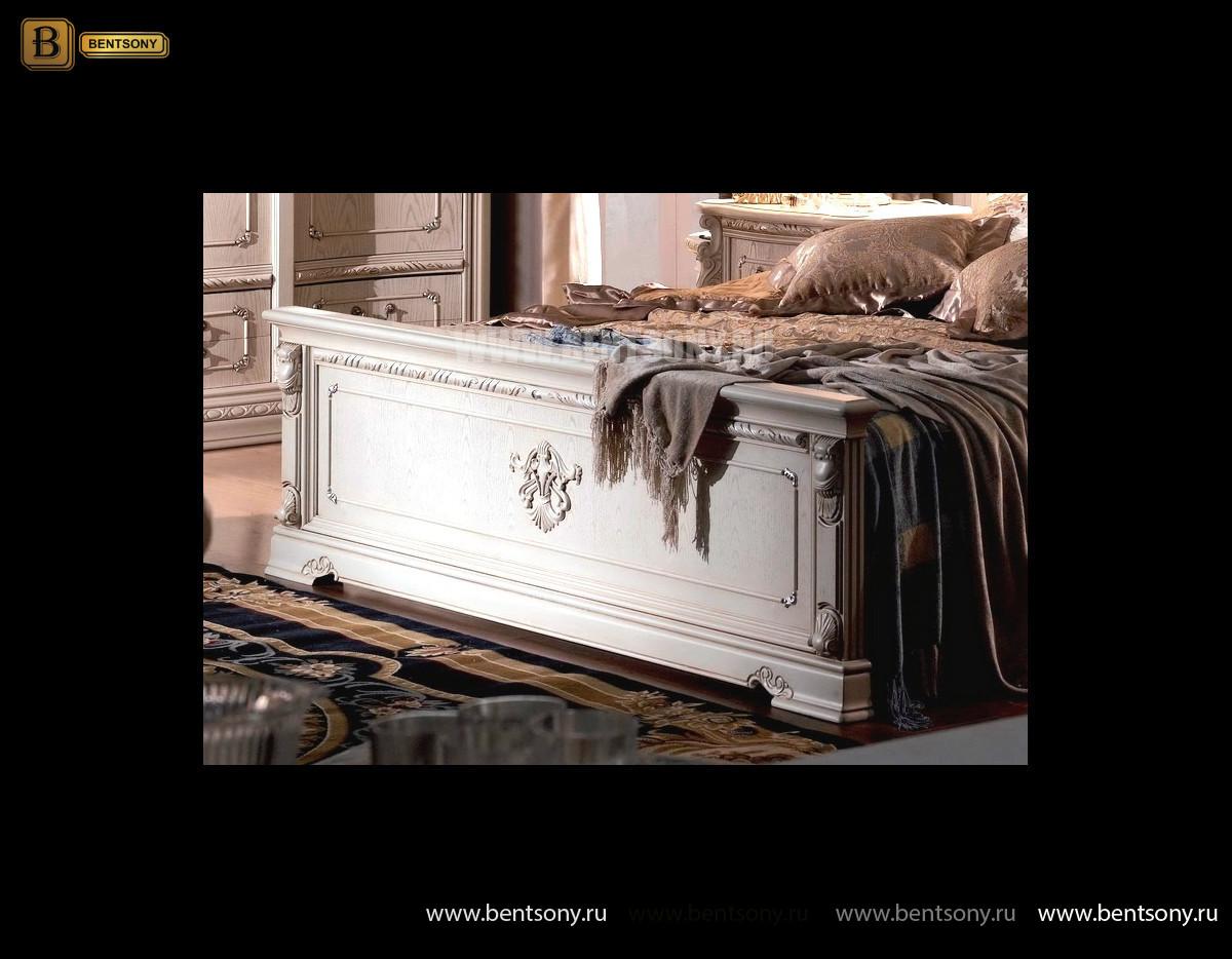 Кровать Вирджиния В (Массив берёзы,натуральная кожа, классика) интернет магазин