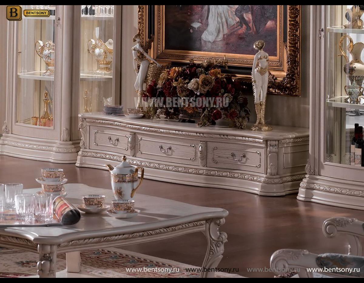 ТВ Тумба Вирджиния А (Массив берёзы, классика) каталог мебели