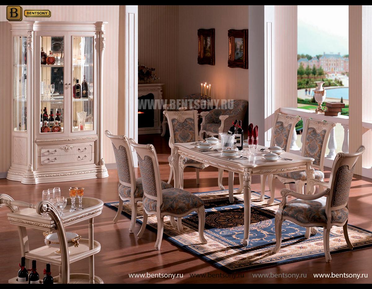Стол обеденный прямоугольный Вирджиния (Классика, Массив берёзы) купить в Москве