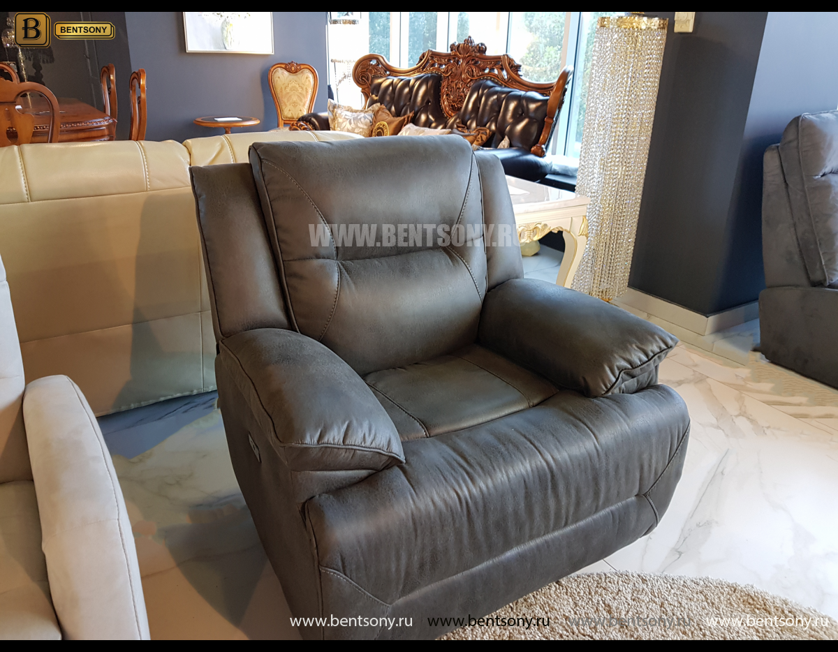 Кресло Бручини с электрореклайнером каталог мебели с ценами