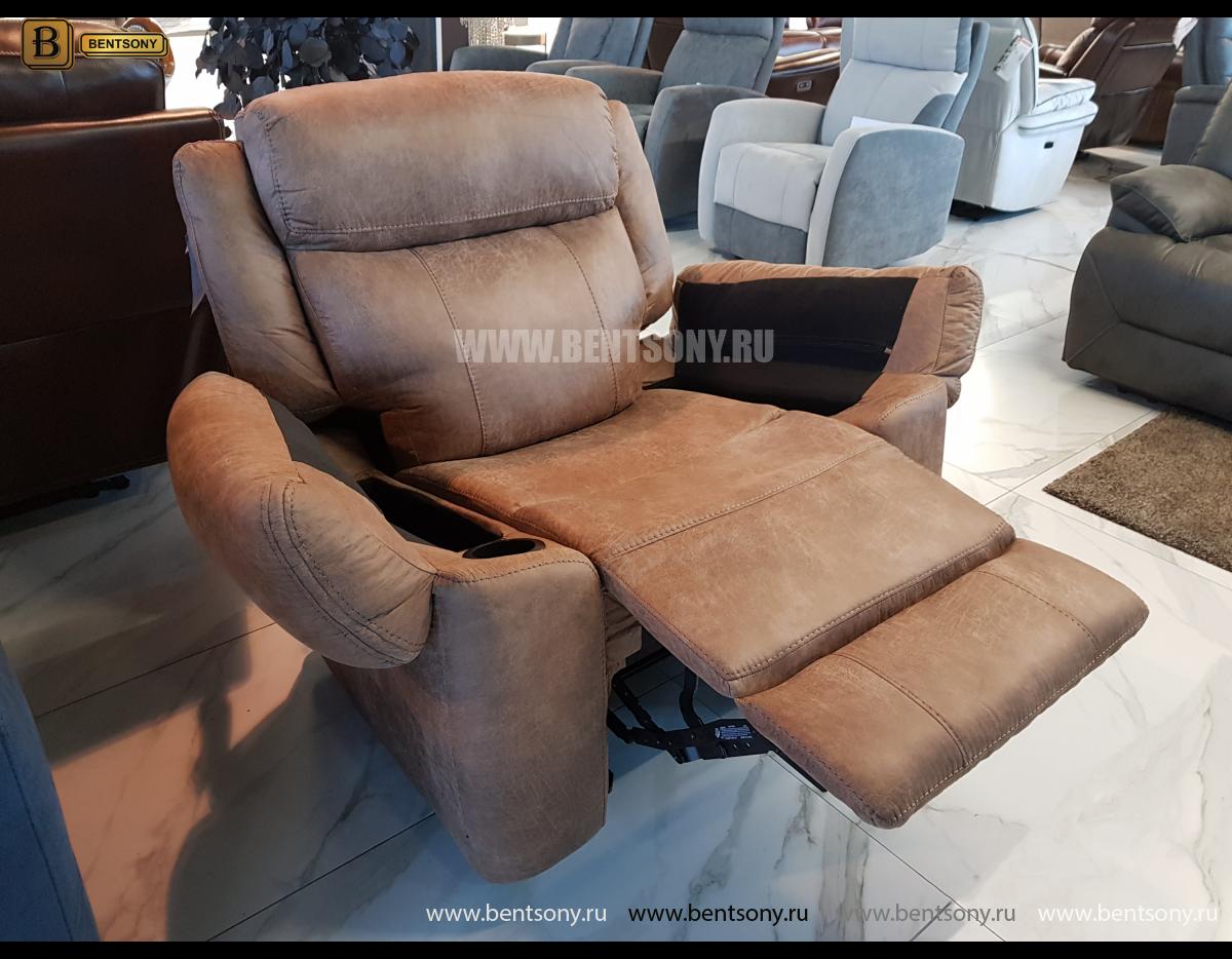 Кресло с реклайнером и глайдером Джиберто в интерьере