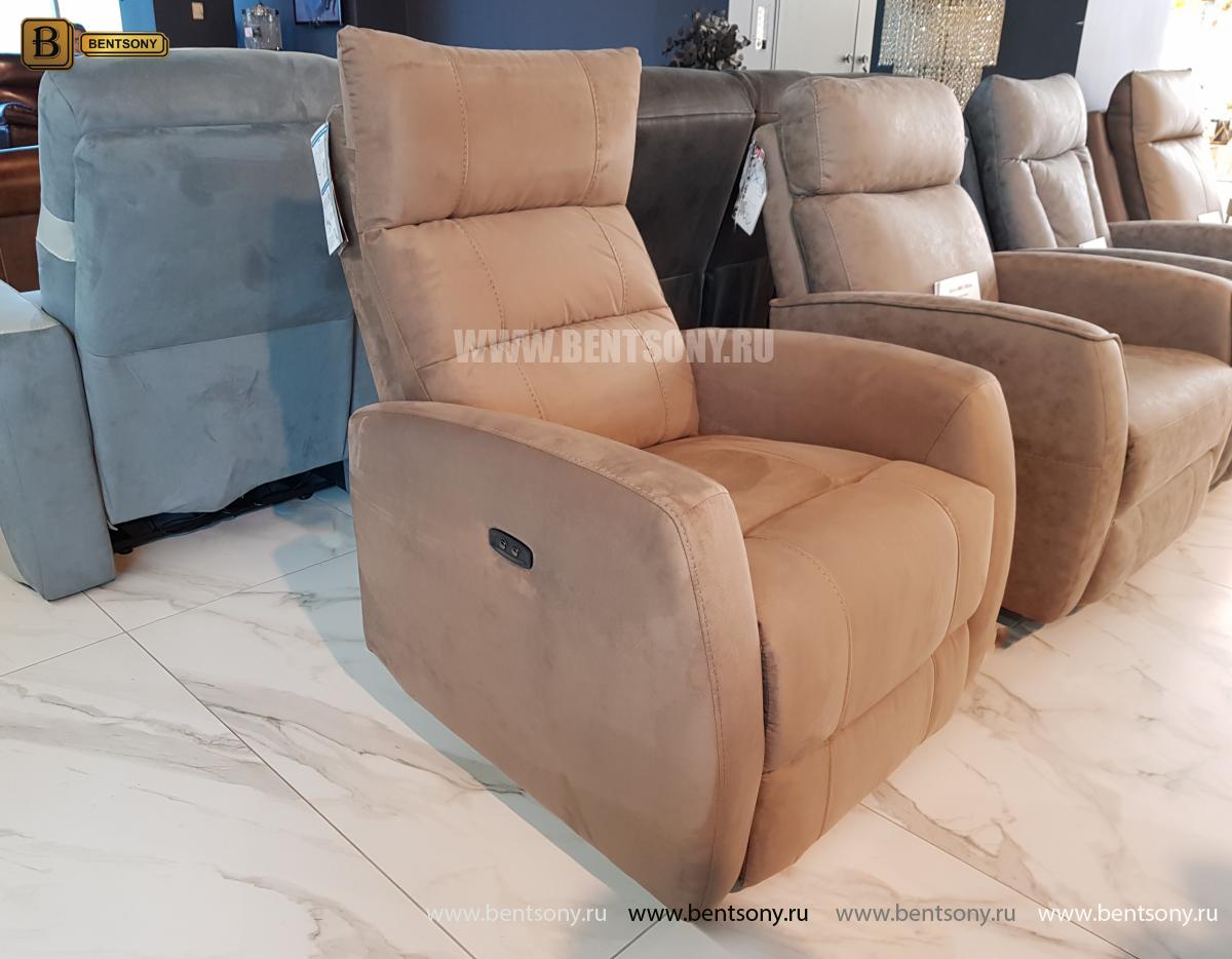 Кресло тканевое Лаваль с электрореклайнером распродажа
