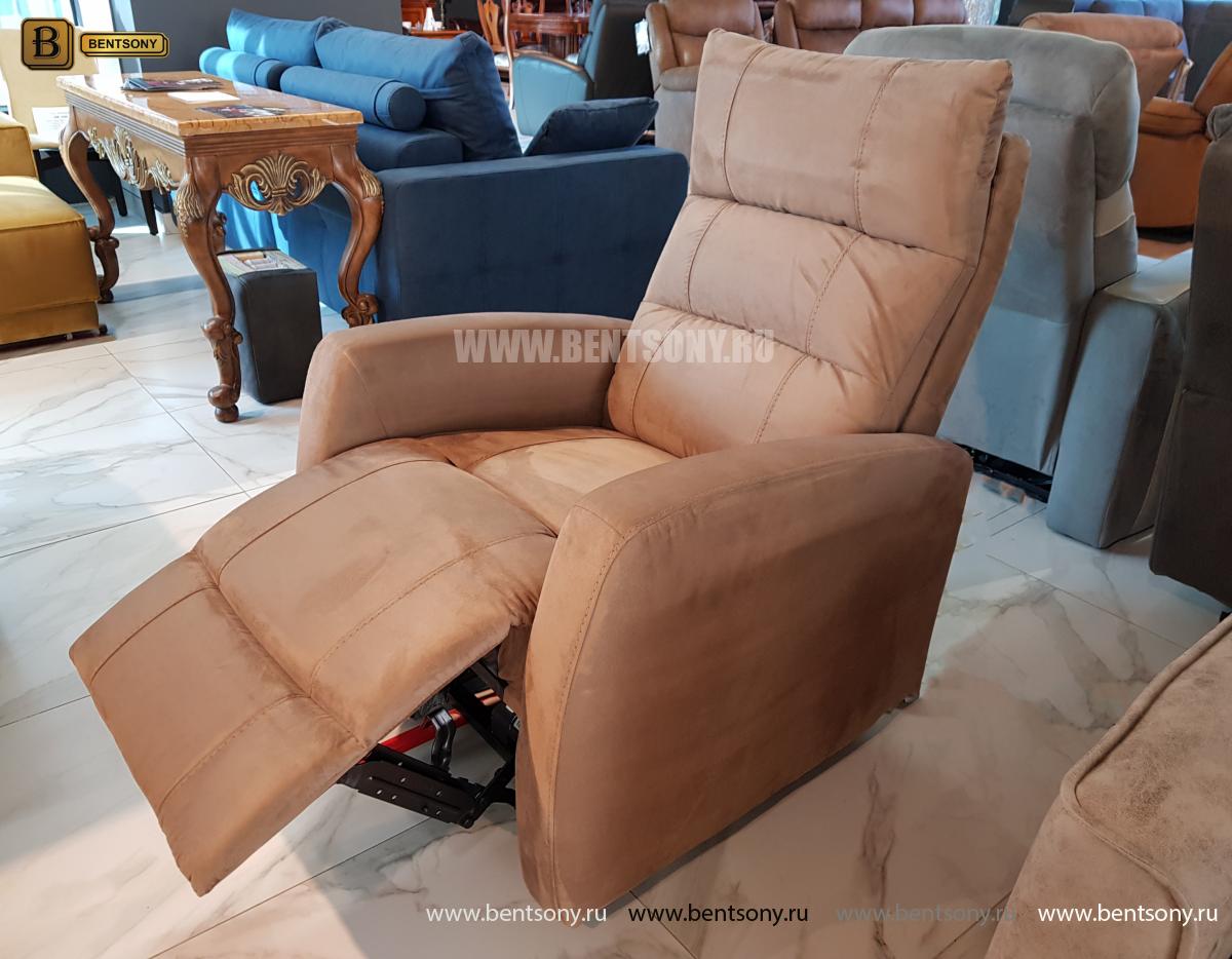 Кресло тканевое Лаваль с электрореклайнером фото